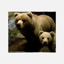 Momma Bear and Cub Throw Blanket