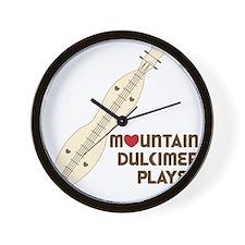 Mountain Dulcimer Player Wall Clock