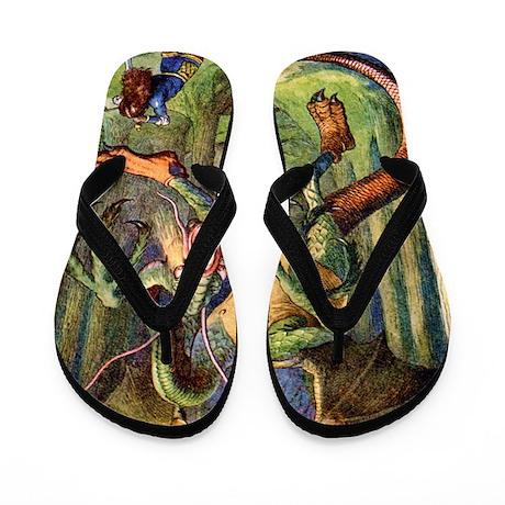 Alice Jabberwocky Flip Flops