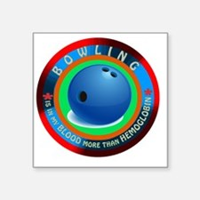 "Bowling Designs Square Sticker 3"" x 3"""