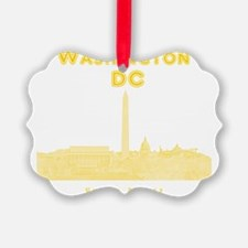 WashingtonDC_10x10_Skyline1_Yello Ornament