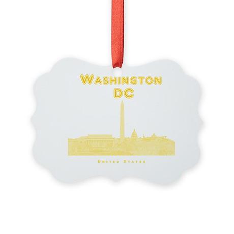 WashingtonDC_10x10_Skyline1_Yello Picture Ornament