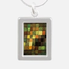 Paul Klee Ancient Sounds Silver Portrait Necklace