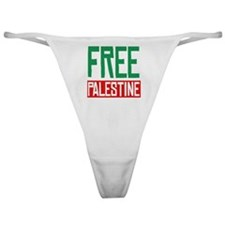 Free Palestine Classic Thong