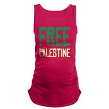 Free Palestine Maternity Tank Top