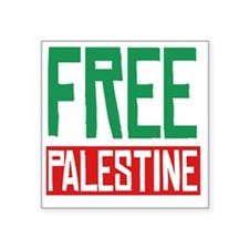 "Free Palestine Square Sticker 3"" x 3"""