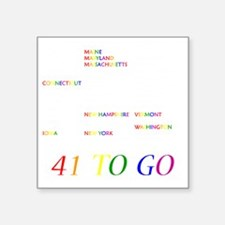 "Gay Marriage Square Sticker 3"" x 3"""