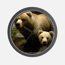 Momma Bear and Cub (Mousepad) Wall Clock