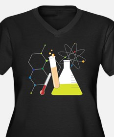 Chemistry St Women's Plus Size Dark V-Neck T-Shirt