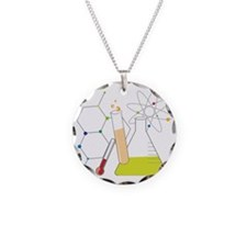 Chemistry Stuff Necklace Circle Charm