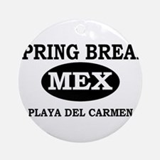 Spring Break Playa Del Carmen Ornament (Round)