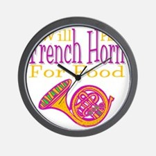 Will Play French Horn Wall Clock