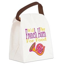 Will Play French Horn Canvas Lunch Bag