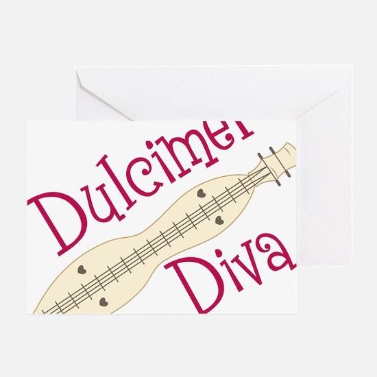 Dulcimer Diva Greeting Card