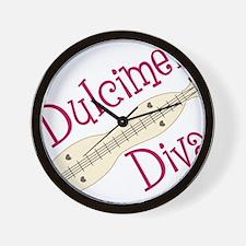 Dulcimer Diva Wall Clock