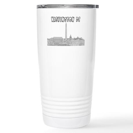 WashingtonDC_Rectangle_ Stainless Steel Travel Mug