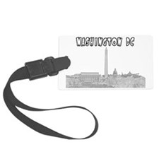WashingtonDC_Rectangle_Black Luggage Tag