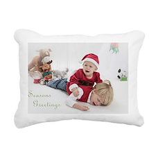 Funny Christmas Portrait Rectangular Canvas Pillow