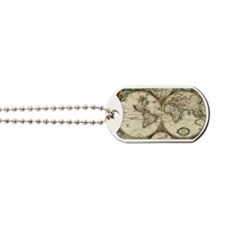 Vintage Map Dog Tags