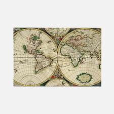 Vintage Map Rectangle Magnet