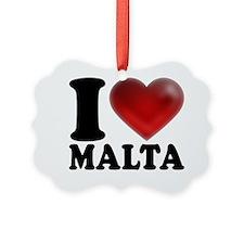 I Heart Malta Ornament