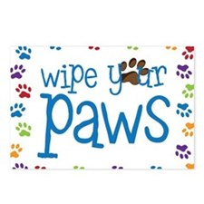 Wipe Your Paws Postcards (Package of 8)