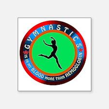 "Gymnastics Designs Square Sticker 3"" x 3"""