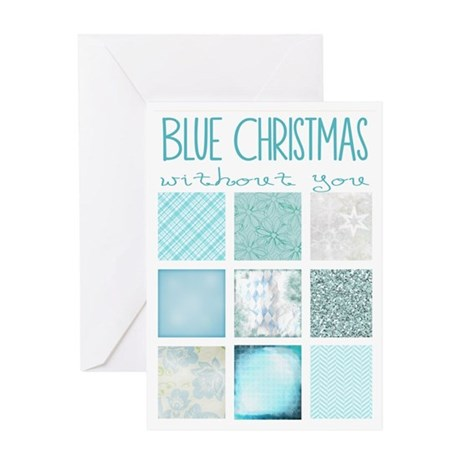 Blue Christmas Greeting Card Greeting Card