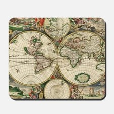 Vintage Map Mousepad