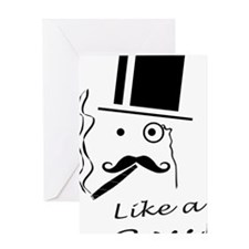 Moustache like a boss Greeting Card