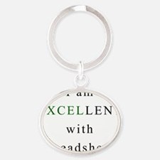 Excellent Spreadsheets Oval Keychain