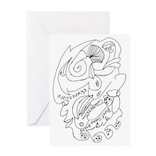 Sienna Chiaroscuro Greeting Card