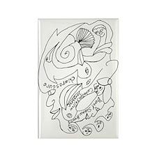 Sienna Chiaroscuro Rectangle Magnet