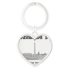 WashingtonDC_12x12_Skyline_Black Heart Keychain