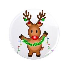 """Merry Deer 3.5"""" Button"""