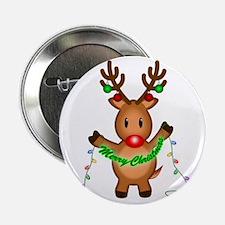 """Merry Deer 2.25"""" Button"""