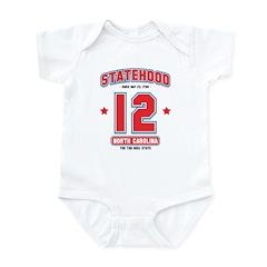 Statehood North Carolina Infant Bodysuit
