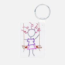 Swing Girl - artinjoy Keychains