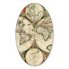Vintage Map Decal
