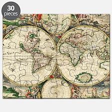 Vintage Map Puzzle