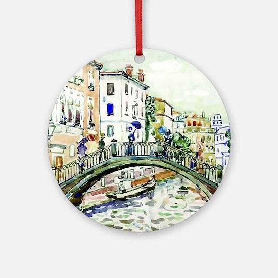 Maurice Prendergast Little Bridge Round Ornament