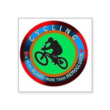 "Cycling Designs Square Sticker 3"" x 3"""