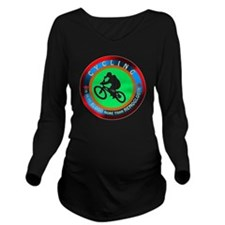 Cycling Designs Long Sleeve Maternity T-Shirt