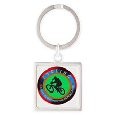 Cycling Designs Square Keychain