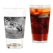 Tiger Drinking Glass