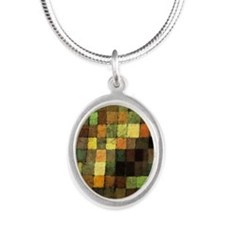 Paul Klee Ancient Sounds Silver Oval Necklace