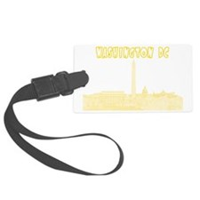 WashingtonDC_Rectangle_Yellow Luggage Tag