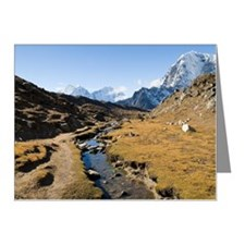 En route to Mount Everest ba Note Cards (Pk of 20)