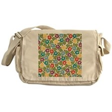 Floral Tropical Hibiscus Messenger Bag