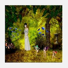 Visit to the Fairiy Garden Tile Coaster
